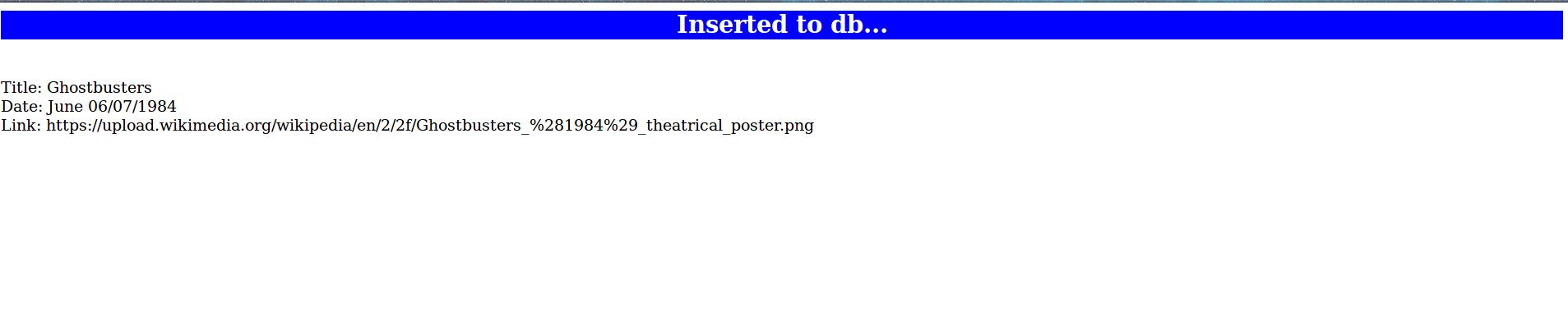 db insert