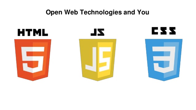 Web Technologies Represented by 3 Shields